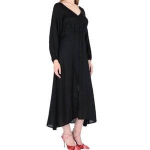 NWT Free People midi satin dress size 10